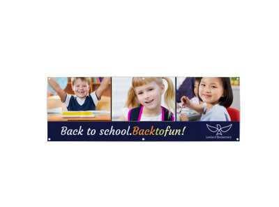 Back To School Simple Banner Template preview