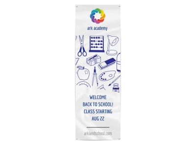 White Back To School Banner Template preview