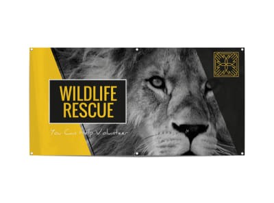 Wildlife Rescue Fundraiser Banner Template preview