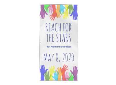 Stars Fundraiser Banner Template preview