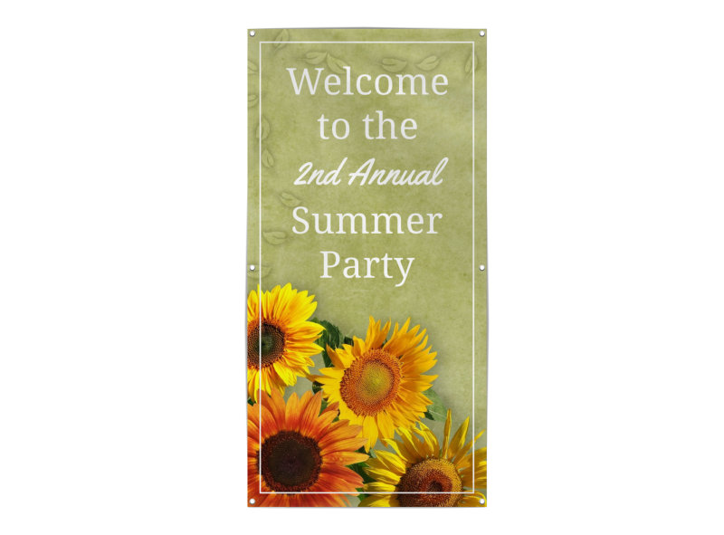 Summer Party Banner Template Preview 3