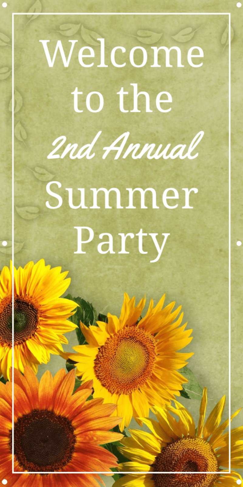 Summer Party Banner Template Preview 2