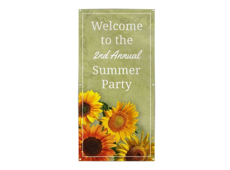 Summer Party Banner Template Preview 1