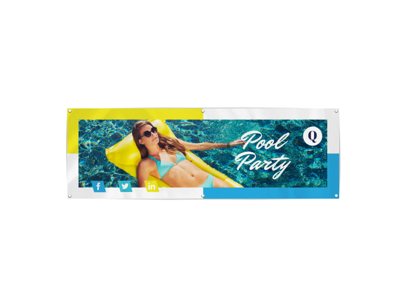Pool Party Banner Template Preview 3