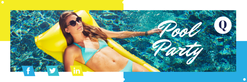 Pool Party Banner Template Preview 2