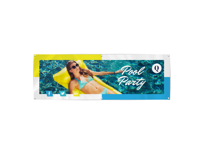 Pool Party Banner Template Preview 1