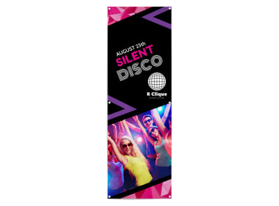 Silent Disco Party Banner Template preview