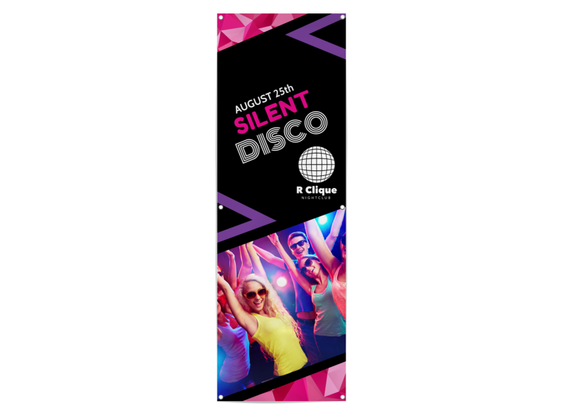 Silent Disco Party Banner Template Preview 1