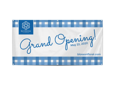 Blue Grand Opening Banner Template
