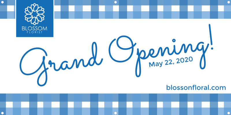 Blue Grand Opening Banner Template Preview 2