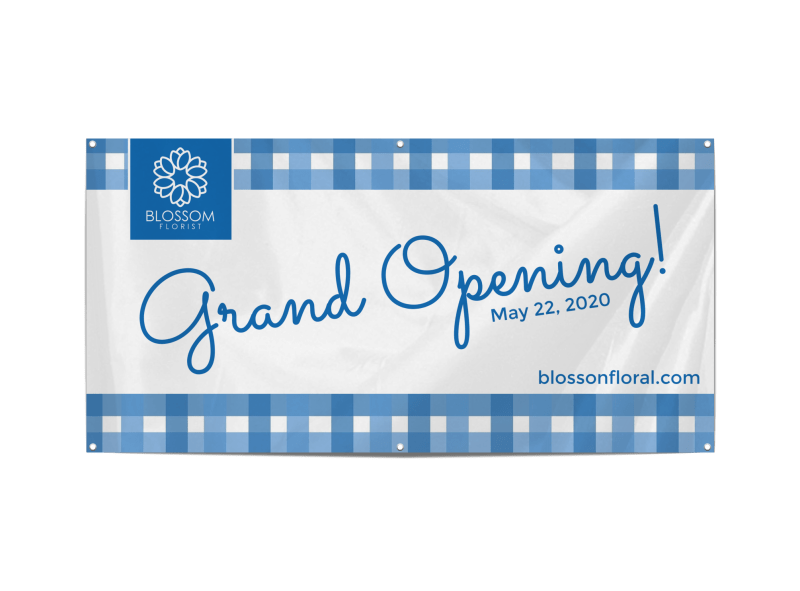 Blue Grand Opening Banner Template Preview 1
