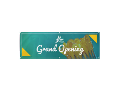 Simple Grand Opening Banner Template preview