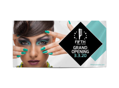 Salon Grand Opening Banner Template preview