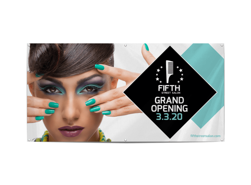 Salon Grand Opening Banner Template Preview 1
