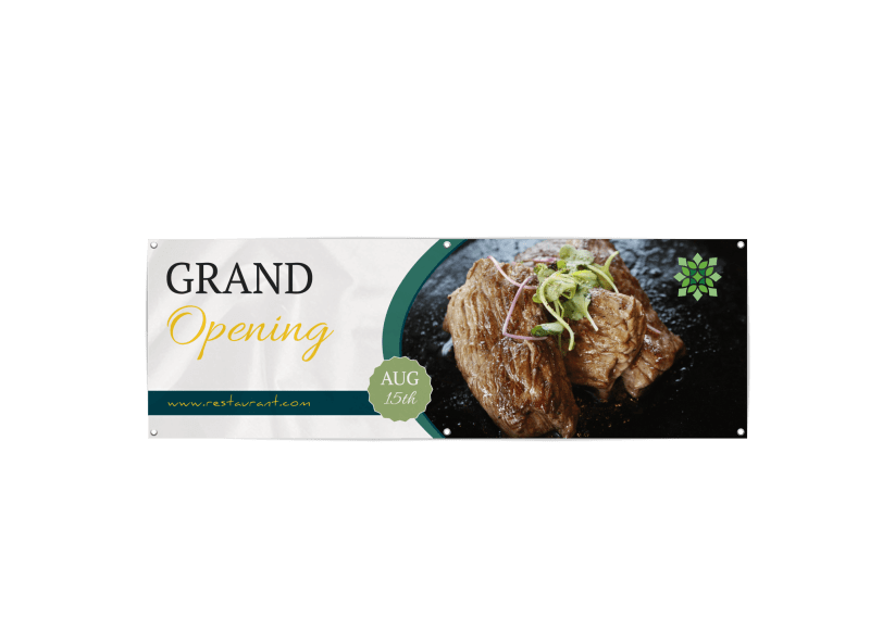 Restaurant Grand Opening Banner Template Preview 1