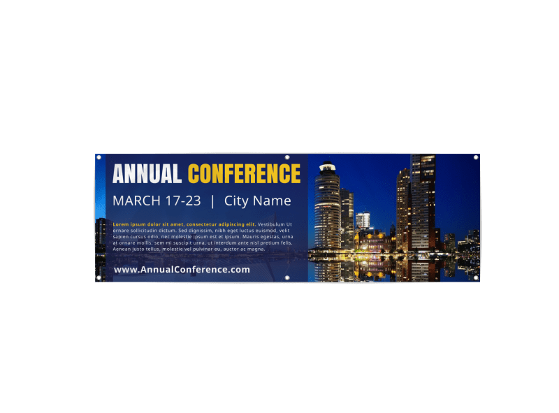 Annual Business Conference Banner Template Preview 1