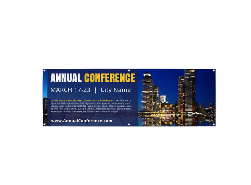 Annual Business Conference Banner Template Preview 3