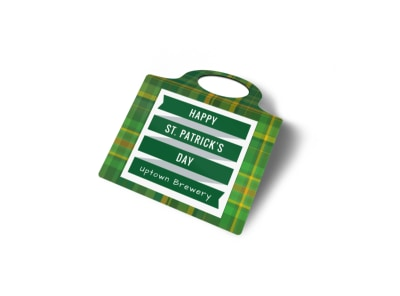 Saint Patrick's Day Bottle Tag Template preview