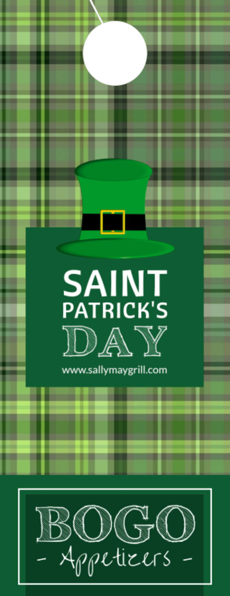 BOGO Saint Patrick's Day Door Hanger Template Preview 2