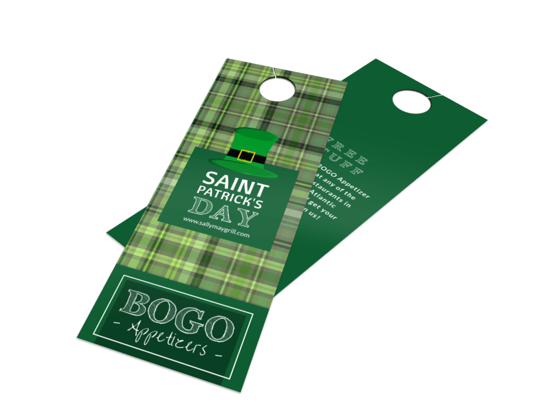 BOGO Saint Patrick's Day Door Hanger Template Preview 1