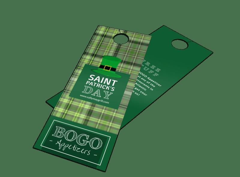 BOGO Saint Patrick's Day Door Hanger Template Preview 1
