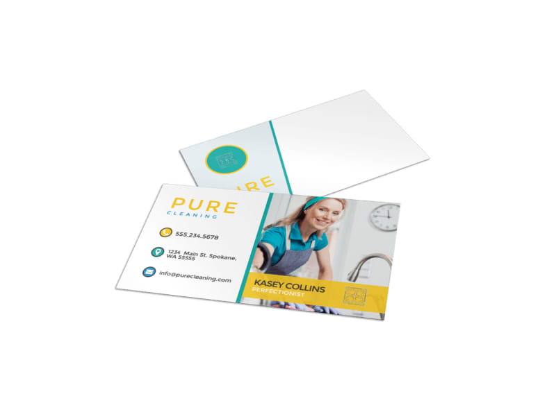 Pure Cleaning Business Card Template
