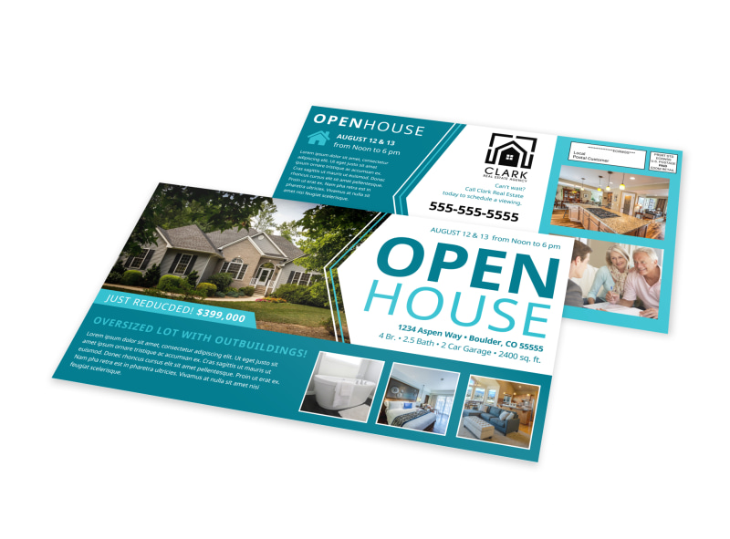 Open House EDDM Postcard Template