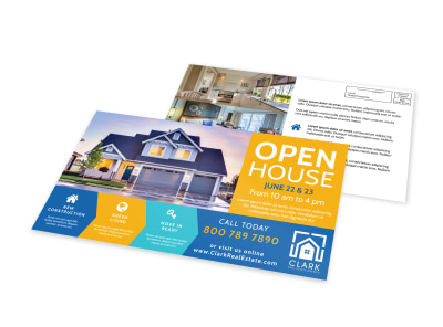 Open House Real Estate EDDM Postcard Template preview