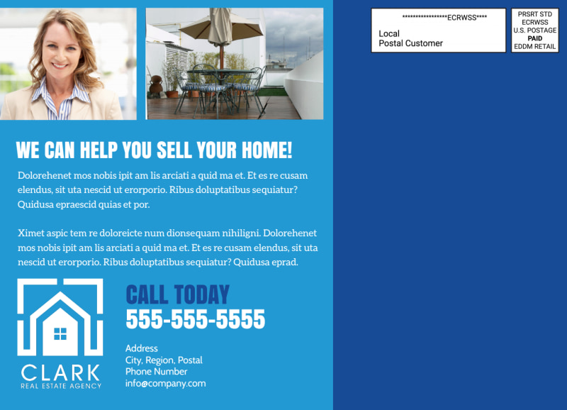 Classic Open House EDDM Postcard Template Preview 3