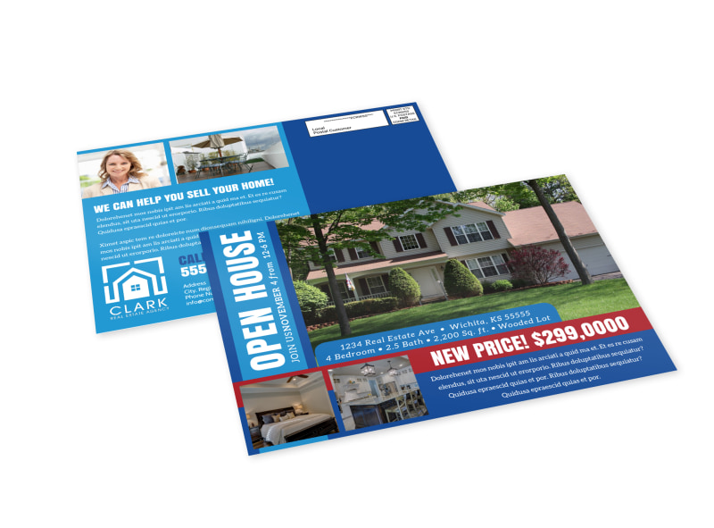 Classic Open House EDDM Postcard Template Preview 4