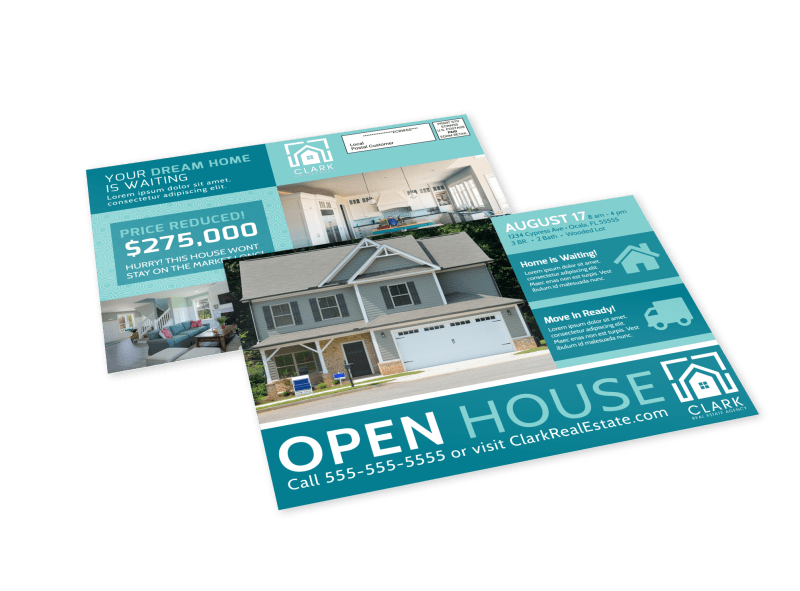 Modern Open House EDDM Postcard Template Preview 1