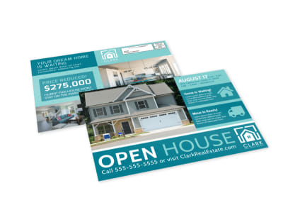 Modern Open House EDDM Postcard Template preview