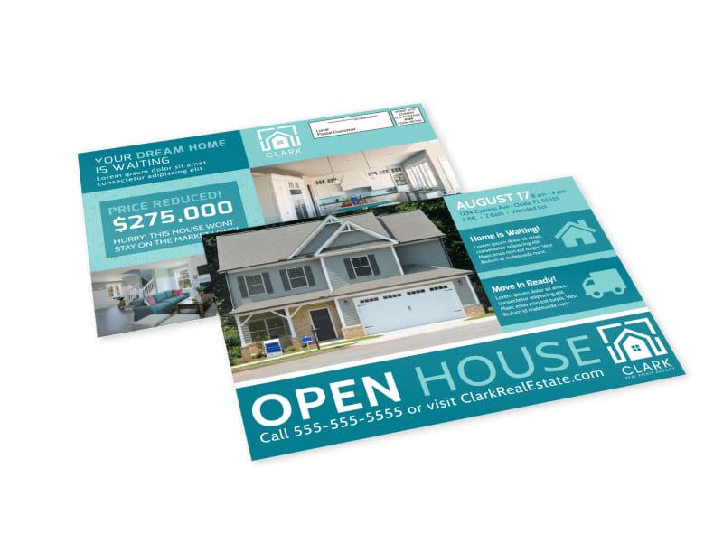 Modern Open House EDDM Postcard Template Preview 4