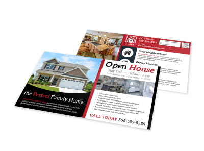 Beautiful Open House EDDM Postcard Template preview