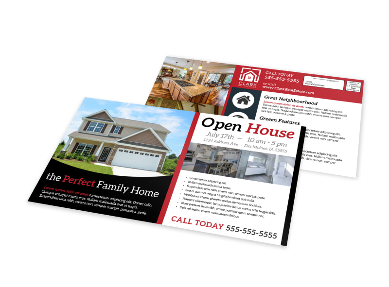 Beautiful Open House EDDM Postcard Template Preview 4