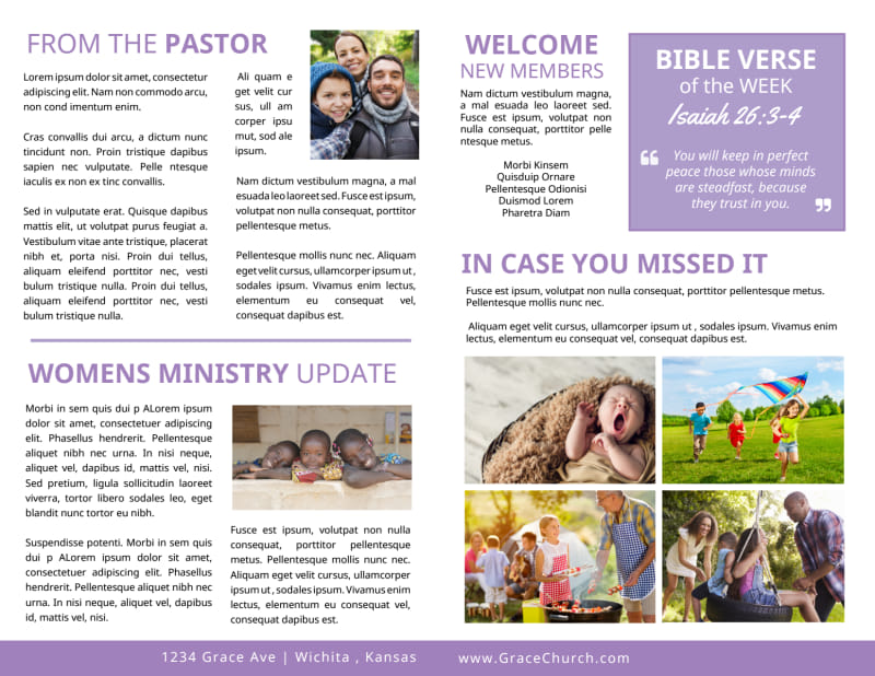 Church Weekly Bulletin Template Preview 3