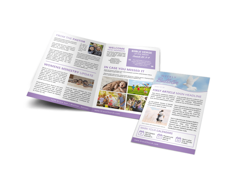 Church Weekly Bulletin Template Preview 1