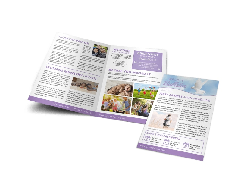 Church Weekly Bulletin Template Preview 4