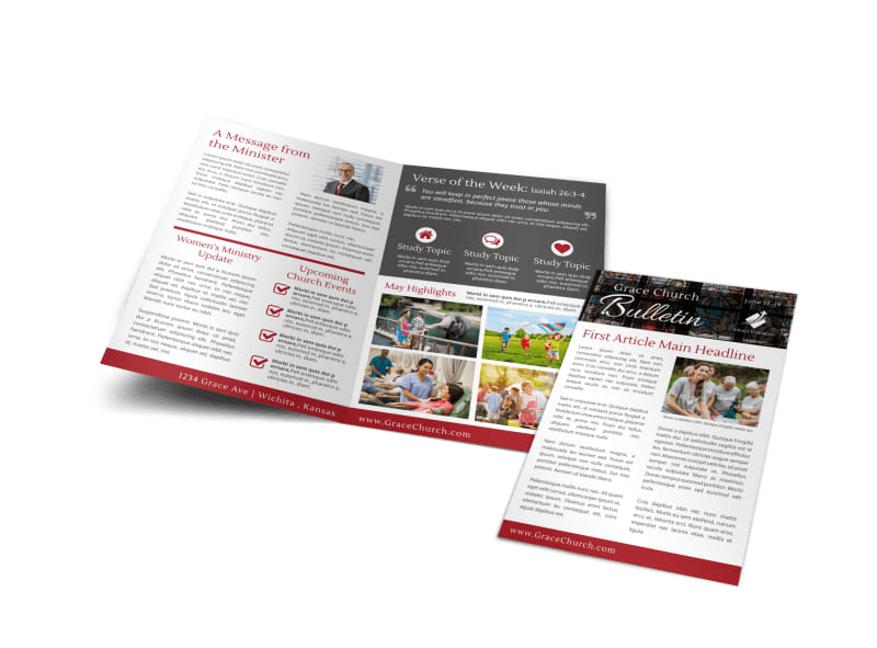 Modern Church Bulletin Template Preview 4