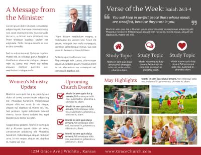 Modern Church Bulletin Template Preview 2