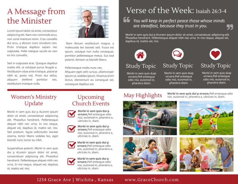 Modern Church Bulletin Template Preview 3