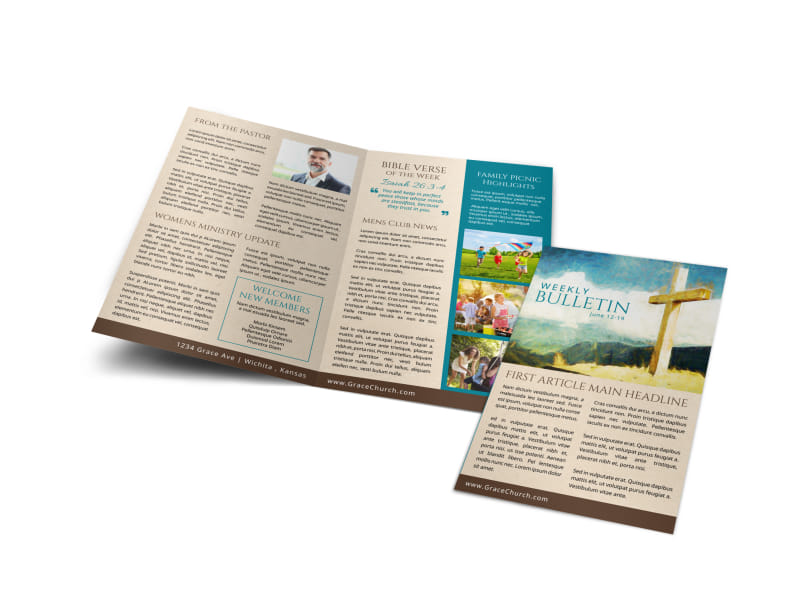 Classic Church Bulletin Template Preview 4