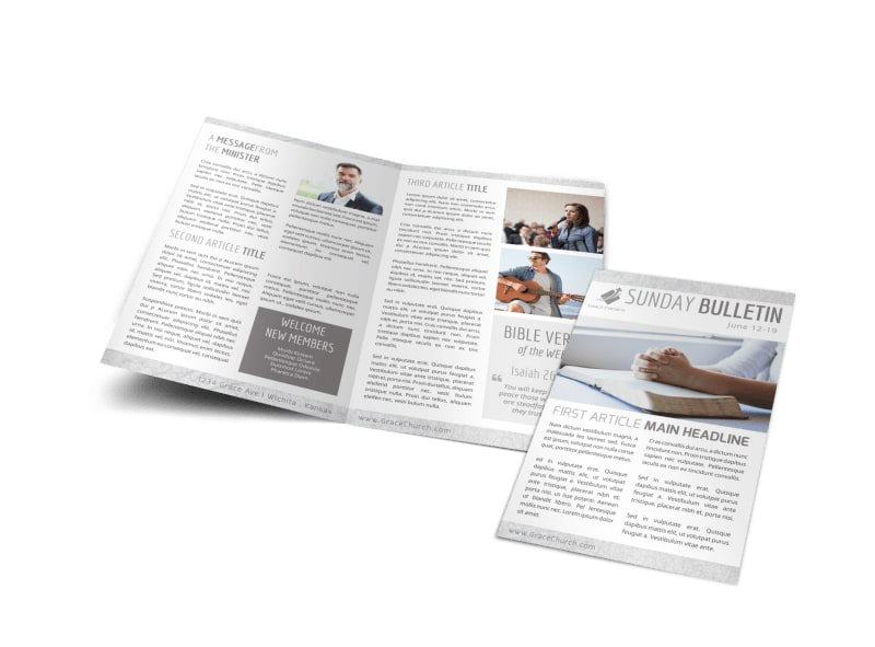 Simple Church Bulletin Template Preview 4