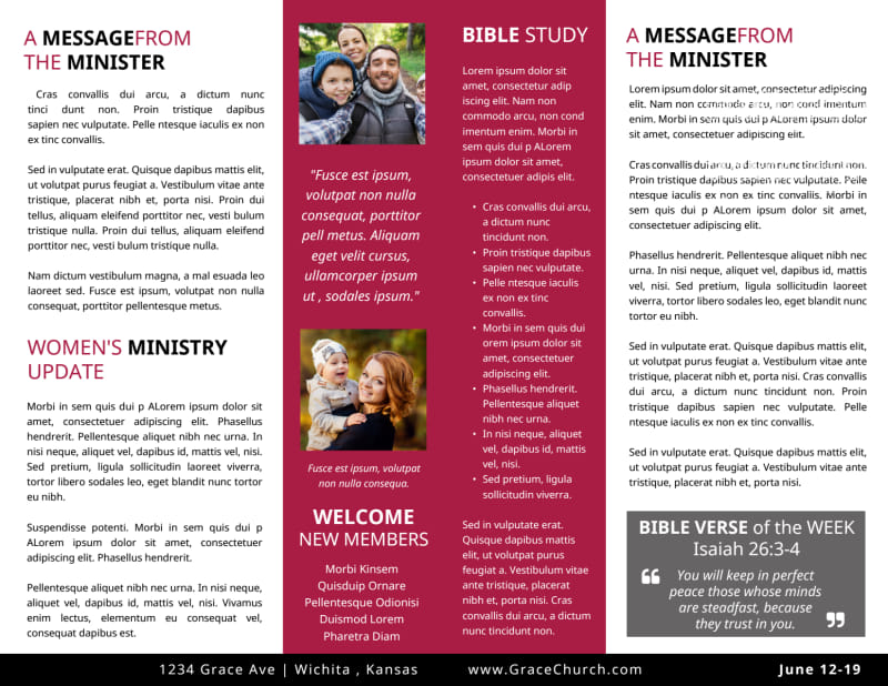 Church Sunday Bulletin Template Preview 3