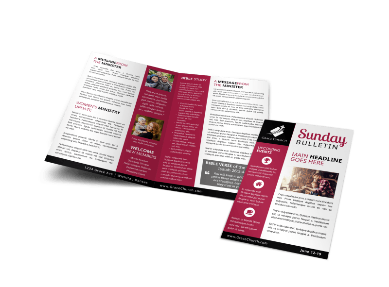 Church Sunday Bulletin Template Preview 1