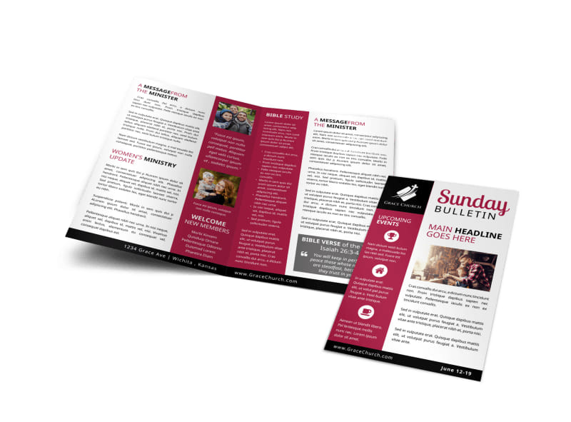 Church Sunday Bulletin Template Preview 4