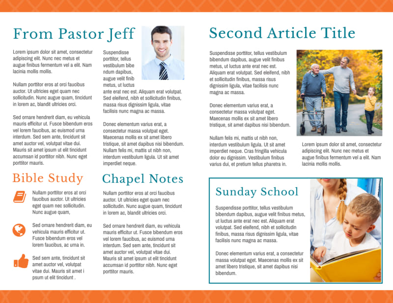 Weekly Church Bulletin Template Preview 3