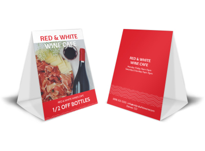 Red & White Wine Table Tent Template preview