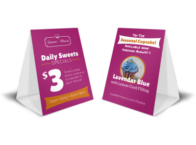 Daily Sweets Table Tent Template preview