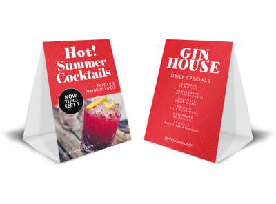 Summer Cocktails Table Tent Template preview